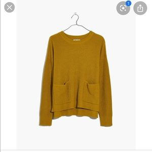 Madewell Patch Pocket Sweater Medium Yellow